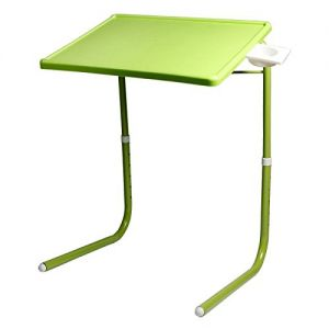 Eegee Table Mate Multi Functional Foldable Utility Table with Cup Holder for Laptop/Dinner/Study - Green
