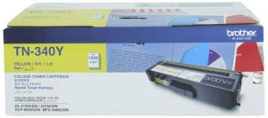 TN-340Y BROTHER YELLOW TONER CARTRIDGE - (LIFE:1500 PAGES)